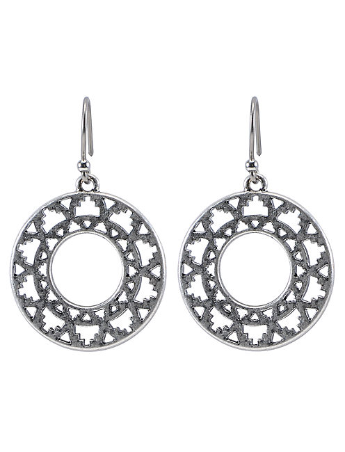 DROP EARRING, SILVER