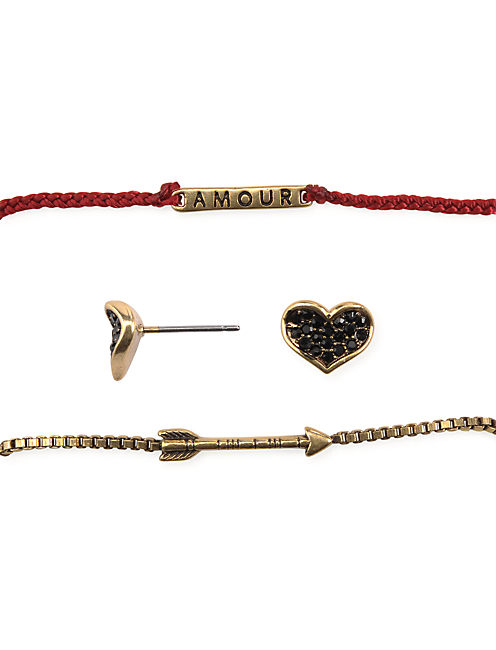 HEART & ARROW SET, 715 GOLD