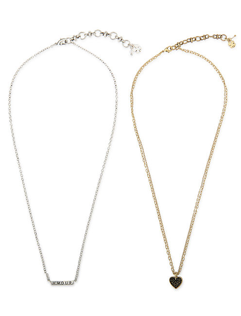 HEART NECKLACE DUO SET, MULTI