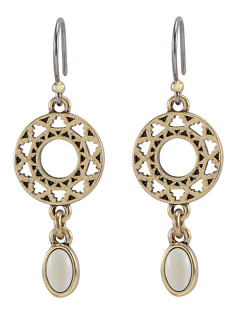 OPENWORK EARRING SET STON, 715 GOLD