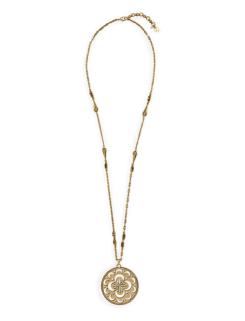 OPENWORK PENDANT NECKLACE, 715 GOLD