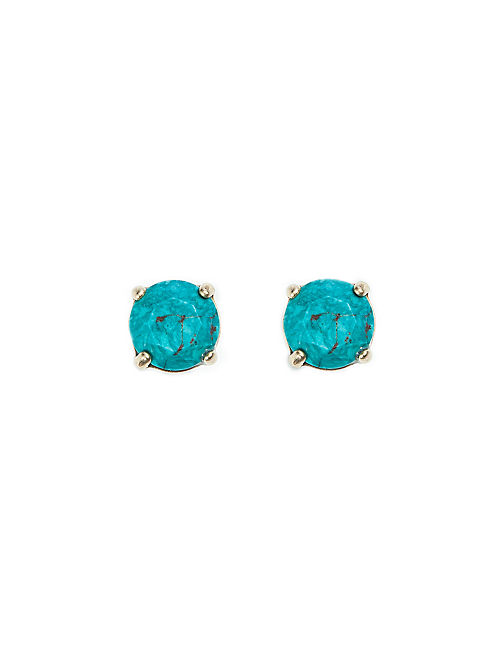 TURQUOISE STUD EARRING, SILVER