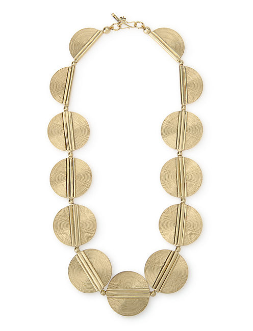 CIRCULAR COLLAR NECKLACE, 715 GOLD