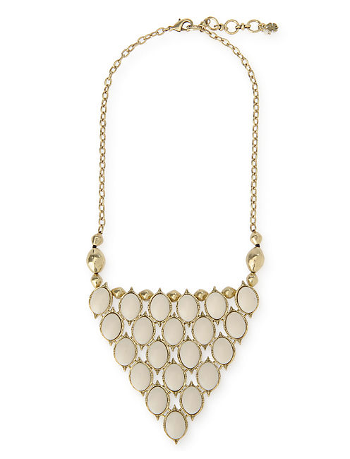 SET STONE BIB NECKLACE, 715 GOLD