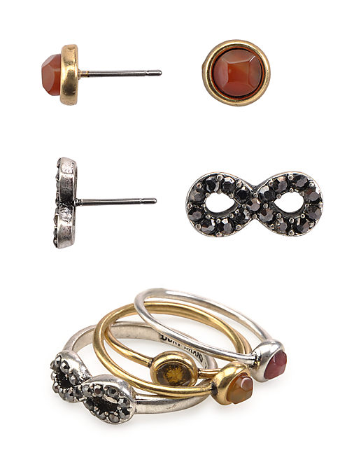 EARRING/RING SET, MULTI