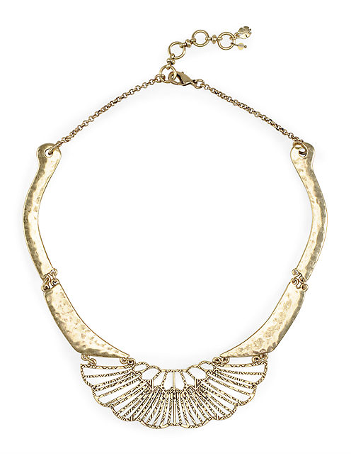 DECO COLLAR NECKLACE, 715 GOLD