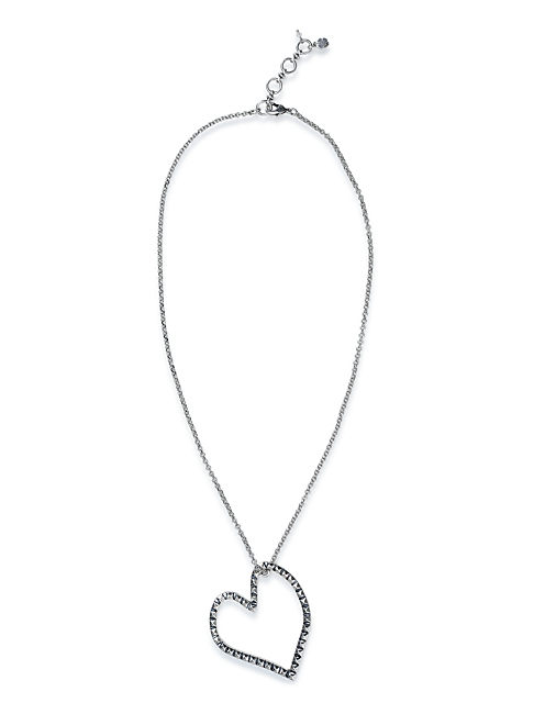 OPEN HEART NECKLACE, SILVER