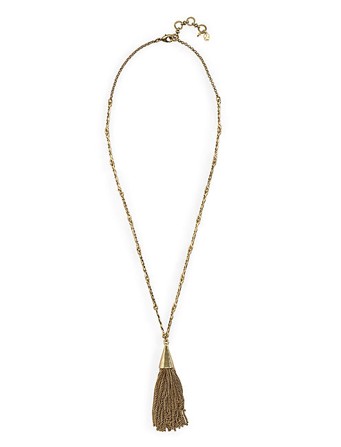 CHAIN TASSEL NECKLACE, 715 GOLD