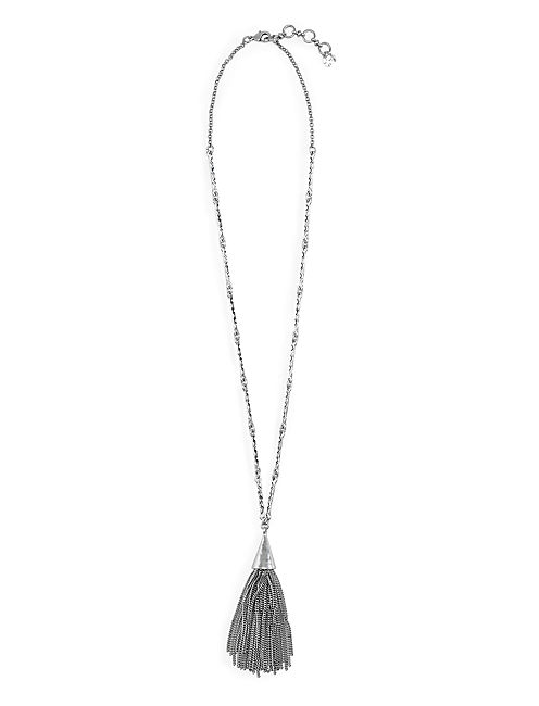 TASSEL NECKLACE, SILVER