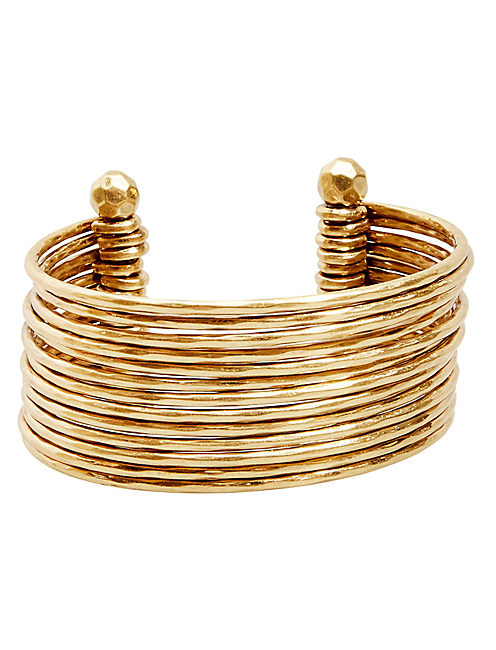 STACKED CUFF, GOLD
