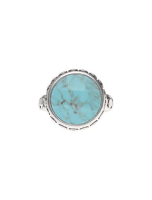 TURQUOISE RING, SILVER