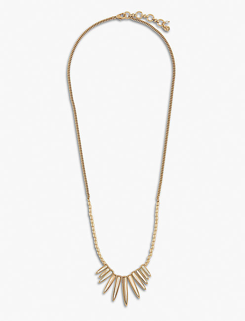 SUN RAY NECKLACE, GOLD