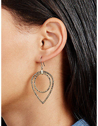 LUCKY PAVE TEARDROP EARRING
