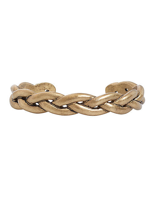 BRAIDED CUFF, MEDIUM DARK YELLOW