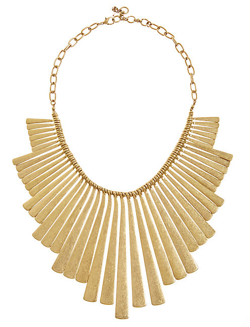 PADDLE NECKLACE, GOLD