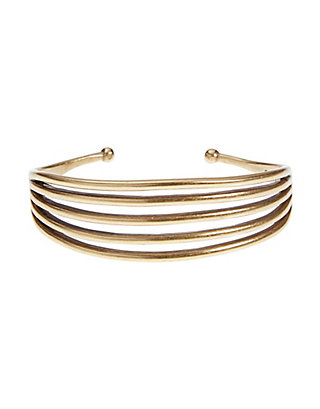 LUCKY GOLD LINEAR CUFF