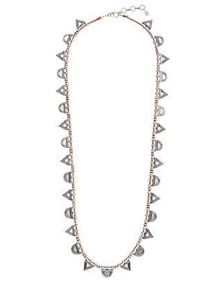 LUCKY SILVER TRIANGLE NECKLACE
