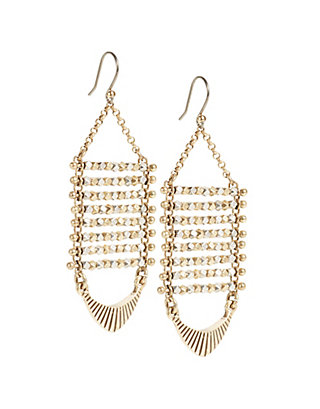 LUCKY TWO TONE BEADED DROP