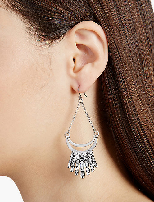 SILVER FRAY EARRINGS,