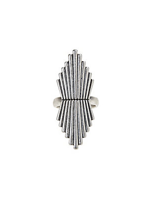 LUCKY SILVER DOUBLE SUNRAY RING