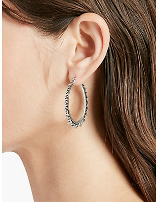 LUCKY ABSTRACT SILVER HOOPS