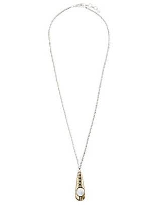 LUCKY LONG PEARL DROP NECKLACE