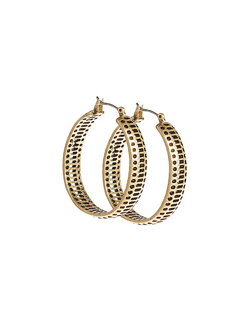 OPENWORK HOOP EARRINGS,