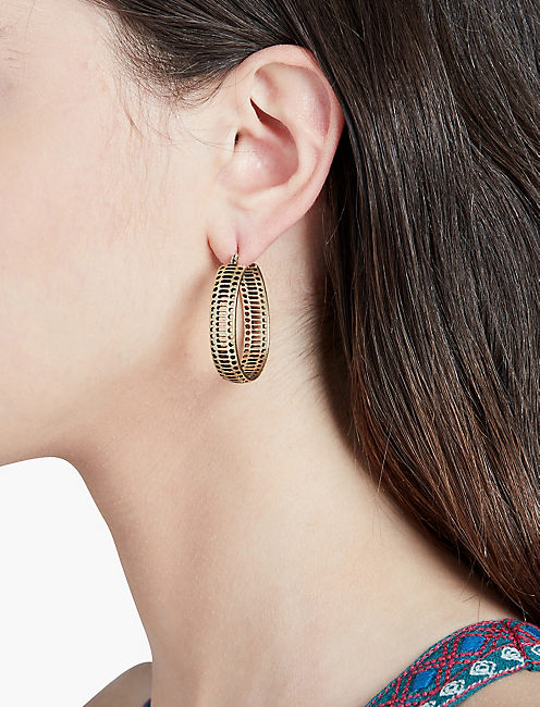 LUCKY OPENWORK HOOP EARRINGS