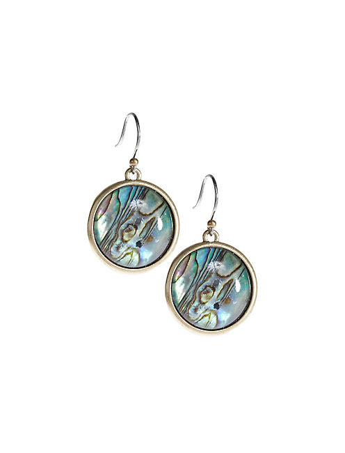 ABALONE DROP EARRINGS,