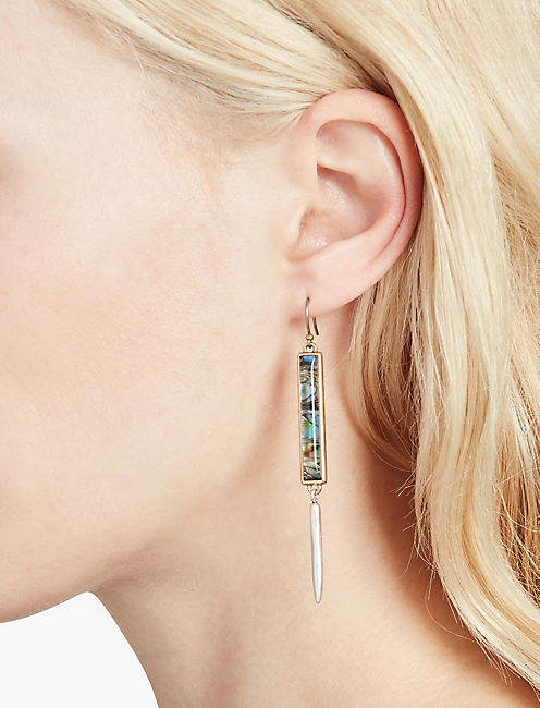 ABALONE LINEAR EARRINGS,