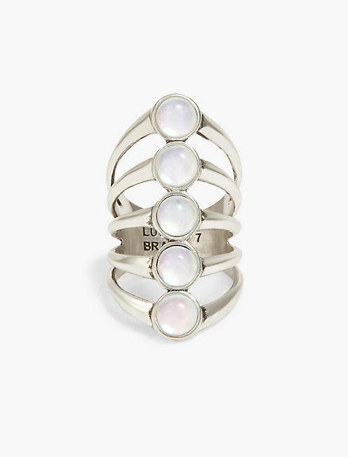 MOONSTONE LADDER RING,