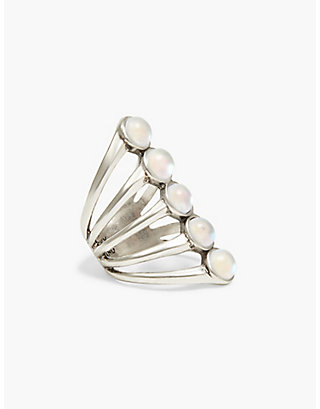 LUCKY MOONSTONE LADDER RING
