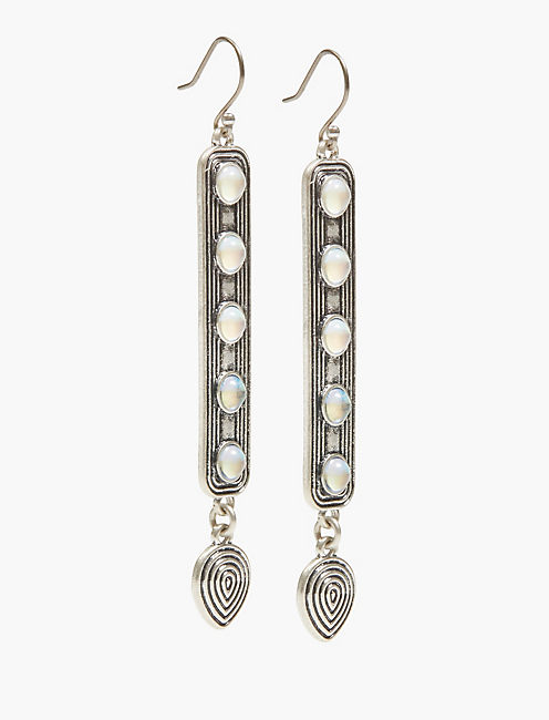 MOON STONE DROP EARRINGS,