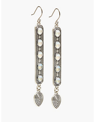 LUCKY MOON STONE DROP EARRINGS