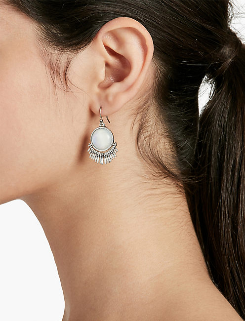 MOONSTONE DROP EARRRINGS,