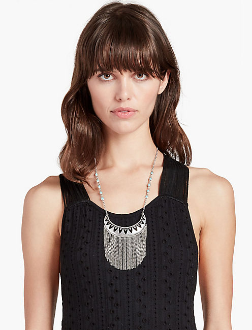 OPENWORK FRINGE NECKLACE,