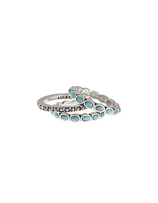 LUCKY TURQUOISE STACK RING SET