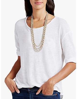 LUCKY TWO TONE LAYER NECK