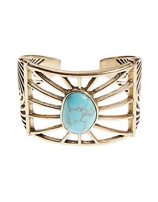 LUCKY GOLD TURQUOISE CUFF