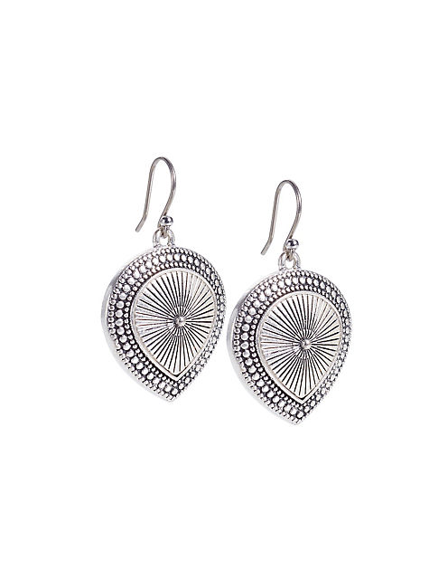 SILVER TEAR DROP EARRINGS, SILVER