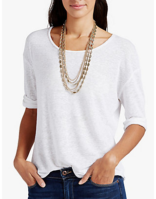 LUCKY GOLD OPENWORK LAYER NECK