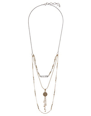 LUCKY TWO TONE CIRCLE NECKLACE