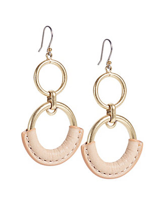 LUCKY THE POINT LEATHER EARRING