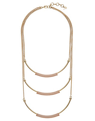 LUCKY LEATHER LAYER NECKLACE