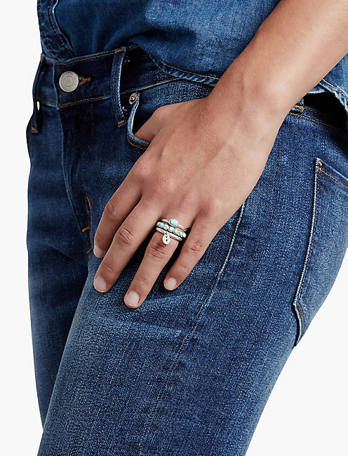 STACK RING SET, SILVER