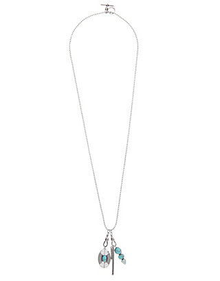LUCKY TURQUOISE CHARM NECKLACE