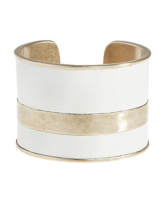 LUCKY WHITE LEATHER CUFF