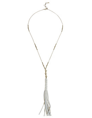LUCKY LEATHER FRINGE NECKLACE