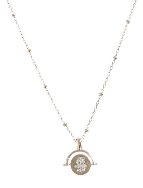 DELICATE EVIL EYE NECKLACE,