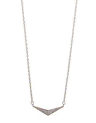 LUCKY TRIANGLE PAVE NECKLACE